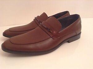 655eafcbd5c9c Details about BNWTB 100% Auth Calvin Klein, Mens Brown Leather Elegant  Shoes With Logo. UK 10