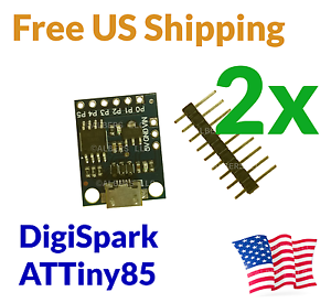 2Pcs Digispark ATtiny85 USB Development Board Arduino Compatible FREE USA SHIP