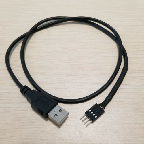 Computer Internal Motherboard Single Row Dupont 4p Male to USB 2.0 A Male cable