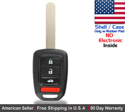 1x New Replacement Remote Control Key Fob Case For Honda Accord CRV CRZ Shell