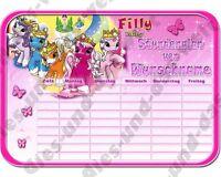 ✿ ✿ Filly Fairy Pferde Einhorn ✿ Din A4 ✿ Schule Stundenplan Neu + Name ✿