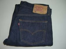 Mens LEVI'S 501 Dark Blue Denim Jeans W38 L34 Straight Leg - Iconic Jeans
