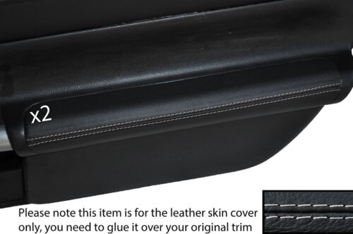 GREY STICH 2X DOOR ARMREST LEATHER SKIN COVERS FITS TOYOTA MR2 MK3 2000-2007