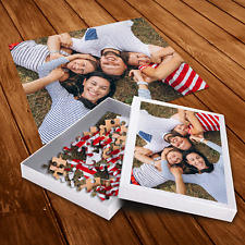 Personalised Photo Jigsaw Puzzle with Customised Box - Kids Family Picture Gift