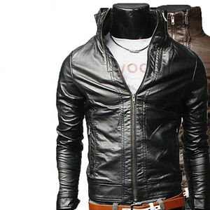 Leather Men N5a Giacca Pelle Uomo Homme In Giubbotto Jacket Veste Blouson Cuir IITwFX
