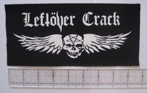 LEFTOVER CRACK DIY Patch Punk Crust No Cash Morning Glory F-minus Subhumans