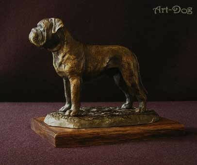 contatore genuino Dog de Bordeaux Bordeaux Bordeaux - dog figurine on wooden base, high quality, Art Dog  moda classica