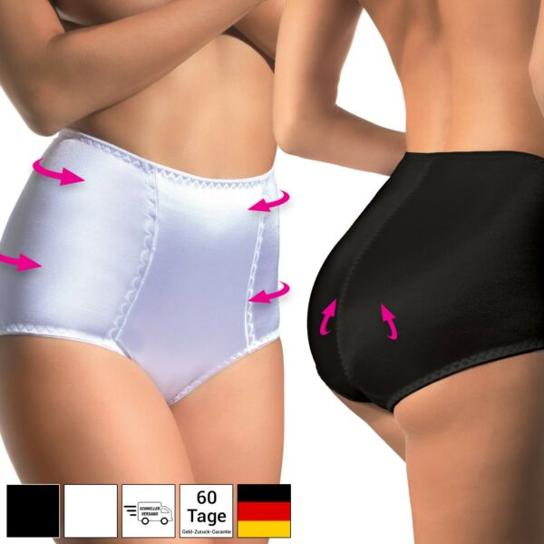 Damen Shapewear Bauchweg Unterwäsche Figurformender Slip Schwarz 34 38 40 42 44
