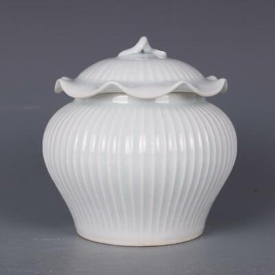 "4.5/"" Fine Chinese Hutian Kiln Ceramics Porcelain Belt Cover Jar Jug Pot Kettle"