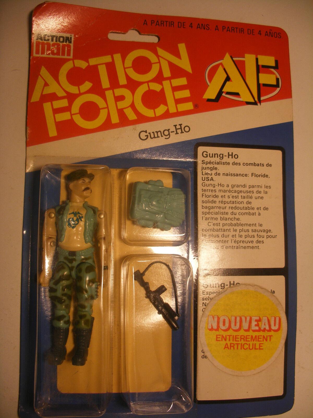 Hasbro RARE GI joe V1 1983 Action Man Force GUNG-HO MISB France Pré-GIJOE