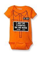 Sara Kety 9 Months On The Inside 0-6 Months Orange Free Shipping