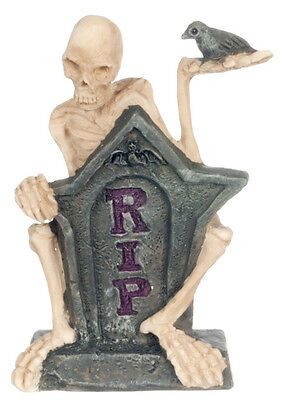 Miniature Fairy Garden Mr. RIP  Skeleton Statue    A4245