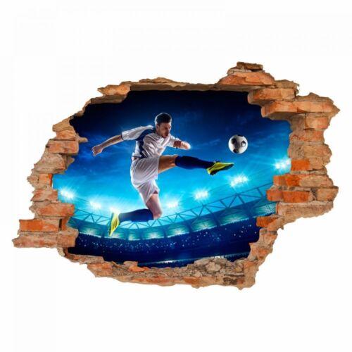Kinderzimmer Junge nikima 032 Wandtattoo Fussballer Loch in der Wand