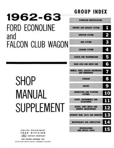 Motors Service & Repair Manuals research.unir.net 1962-1963 Ford ...