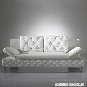 Schlafsofa mit bettkasten weiß  ROXY Schlafsofa Schlafcouch Sofa Bettkasten - Weiß | eBay