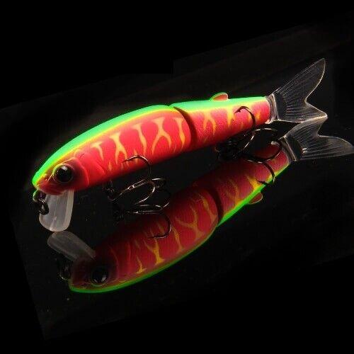 Fishing Lure Bass Minnow Professional Bait 13.7g Jointed Swimbait Hook Rapala