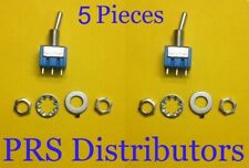 Toggle Switch 6a 125vac Onoff Spdt 2 Position 3 Pin Toggle Switch 5 Pieces New
