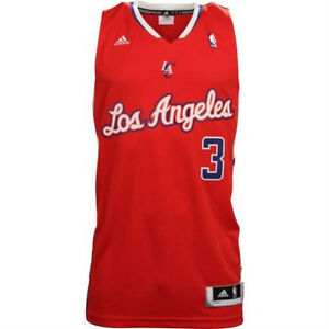 053d879764c New W/Tags Mens NBA Adidas Chris Paul #3 LA Clippers Red Swingman ...