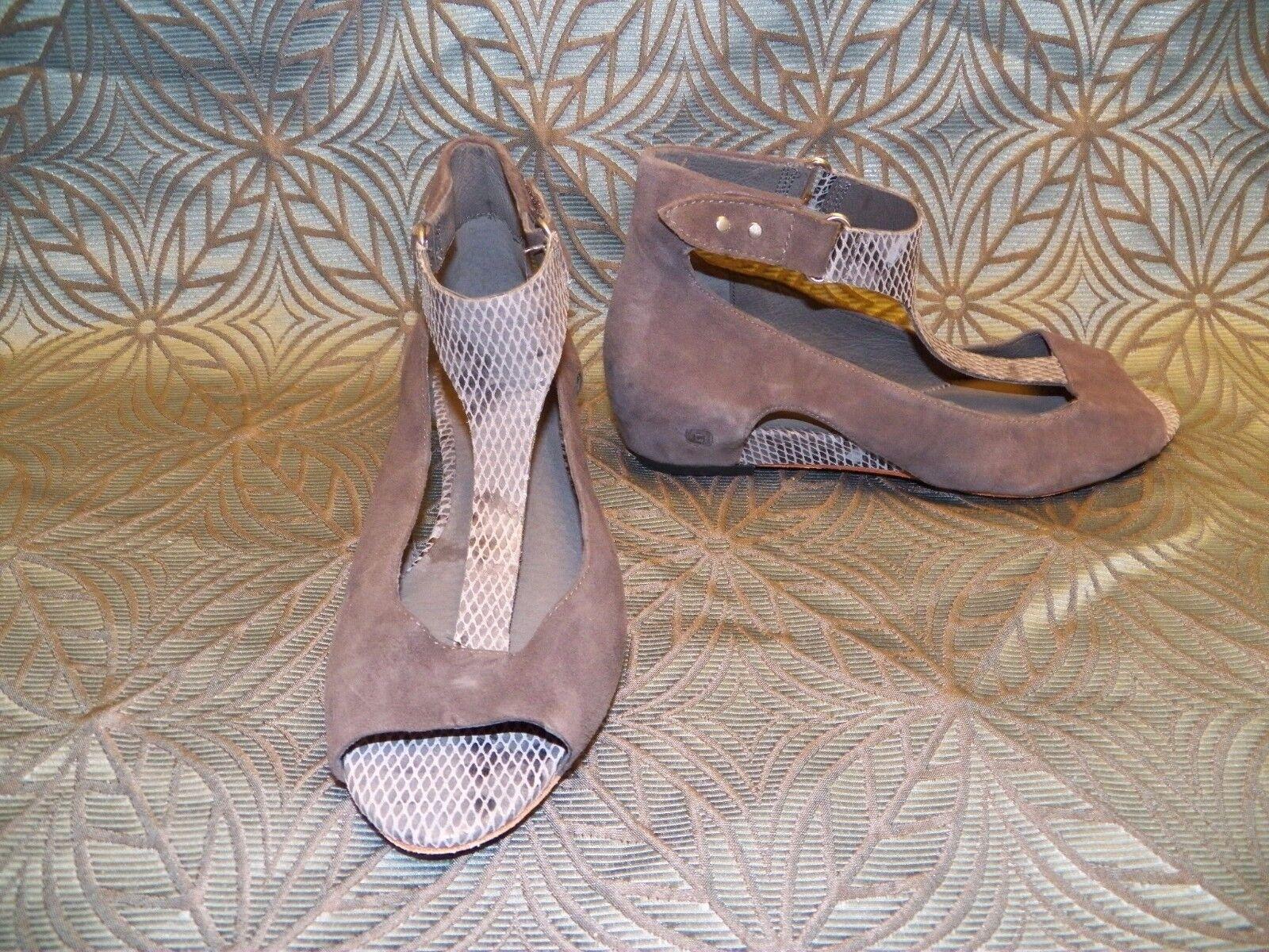 NEU Damenschuhe Tsubo Gerri Snake Charcoal Wedge Heel Strappy Sandales