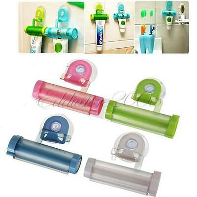 Plastic Rolling Toothpaste Tube Squeezer Dispenser Partner Holder Sucker Hanging