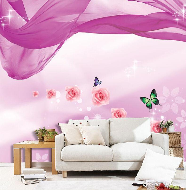 3D Art Flower Butterfly 2934 Wall Paper Wall Print Decal Wall AJ WALLPAPER CA