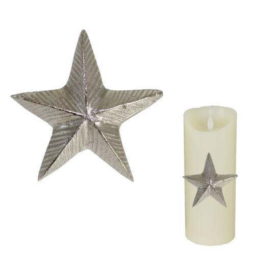 Silver Nickel Plaqué Noël Bougie PIN-Star