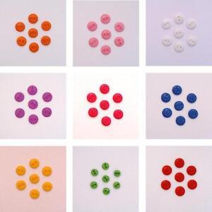 LOT 30 mini BOUTONS ** 9 mm ** couleur mélangée layette scrapbooking