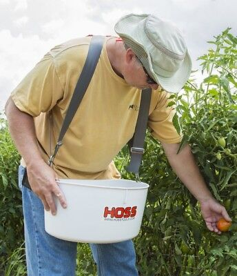 Hoss Tools Over-the-Shoulder Harvesting Bucket   Harvest with Both Hands!