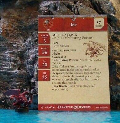 D/&D Miniatures Flamebrother Salamander #40 Angelfire