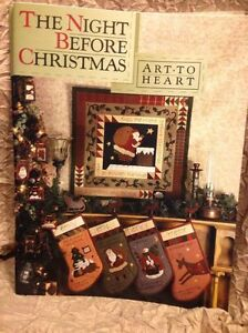 The-Night-Before-Christmas-W-Stockings-Art-To-Heart-Nancy-Halvorsen-Quilt-Book