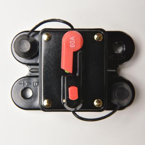 60A-250 Manueller Reset-Leistungsschalter Auto Boat Audio Stereo Sicherung CJ