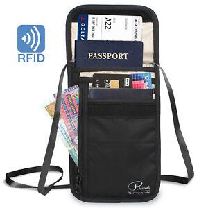 new york 6415f ff5a2 Passport Holder, Travel Wallet Neck Pouch/Purse, Small Messenger ...