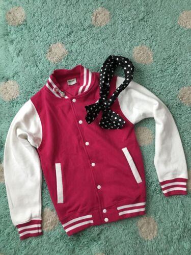 Varsity Letterman Jacket Costume Halloween Pink La