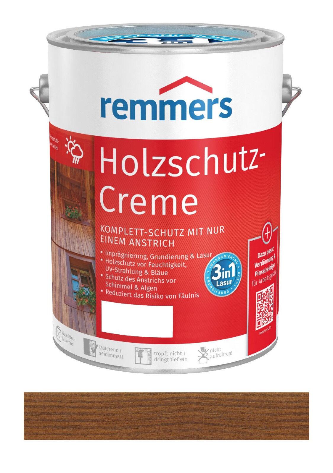 Remmers Holzschutz-Creme Nussbaum 2,5 Liter Holz Lasur für Außen NEUWARE