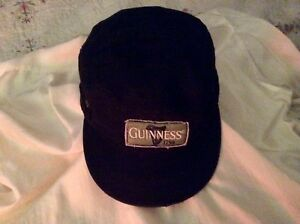 GUINESS-Conductor-039-s-Cap-L-XL-Black-Baseball-Hat-Distressed