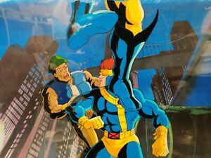 CYCLOPS-WOLVERINE-X-MEN-ANIMATION-CEL-amp-Hand-Painted-Background-with-COA