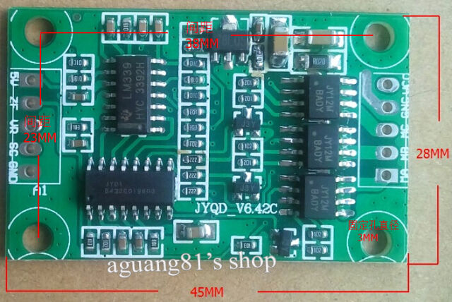 Micro 3A 12V DC Brushless Motor Controller Driver Board for car pump motor