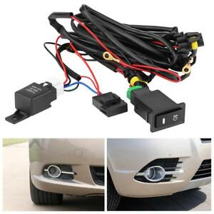 12v 40a universal car led fog light on/off switch wiring harness ... universal fog light wiring harness ebay  ebay