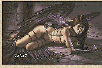 Cross Stitch Chart - Gothic Fallen Angel No. 11 TSG37 Free UK p&p...