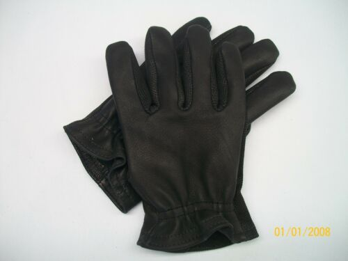 TOUGH GOATSKIN LEATHER MOTORCYCLE SHORT CUFF GLOVES MADE IN THE USA