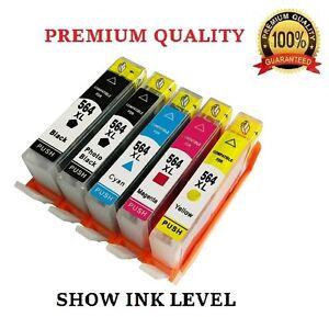 5-Pack-HP-564XL-New-Gen-Ink-Cartridge-for-Photosmart-7510-7515-7520-7525-564-XL