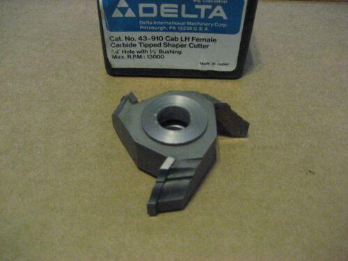 DELTA 43-910 C.T AA8090-1 CAB LH FEMALE SHAPER CUTTER