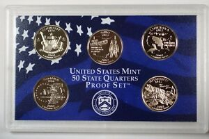 2002-United-States-State-Quarters-Proof-Set-5-Gem-Coins-W-Box-and-COA