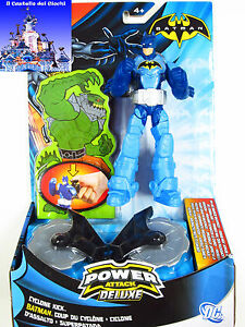 BATMAN-Power-Attack-Deluxe-Ciclone-D-039-Assalto-16-cm-con-Accessori-by-Mattel-W7260