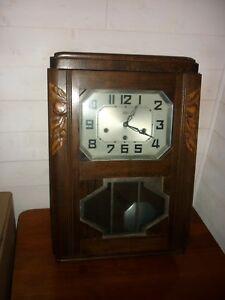 Carillon Horloge Pendule Odo 8 Tiges 8 Marteau 30 Noyer Fonctionne Support U AgréAble Au Palais