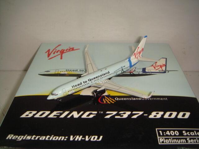 Phoenix 400 Virgin bleu Airlines B737-800WL  Tête à Queensland couleur  1 400