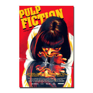 Image Is Loading Pulp Fiction Poster Movie Vintage Art Silk