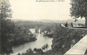 CP-SAUVETERRE-DE-BEARN-VUE-PITTORESQUE-SUR-LE-GAVE