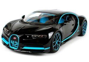 BUGATTI CHIRON 42 BLACK LIMITED EDITION 1/18 DIECAST MODEL CAR BY BBURAGO 11040
