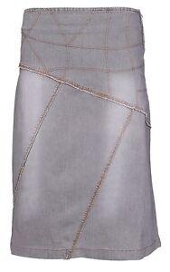 New Womens Ladies Denim Stretch Jeans A Line Midi Skirt Size 8 10 12